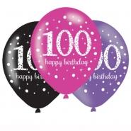 Ballonger 27,5cm 6st Pink celebration 100år 25kr