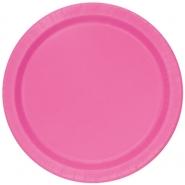 Papperstallrikar 21,9cm 8st Hot pink 18kr