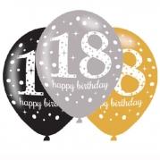Ballonger 27,5cm 6st gold celebration 18år 25kr