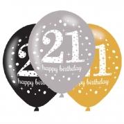 Ballonger 27,5cm 6st gold celebration 21år 25kr