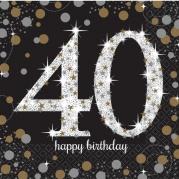 Servetter 2-lags 16p Gold celebration 40år 34kr