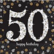 Servetter 2-lags 16p Gold celebration 50år 34kr