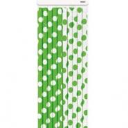 sugrör av papper grönvit 10st 21kr