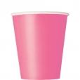 Pappersmuggar 266ml 14p Hot pink 18kr