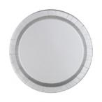 Papperstallrikar 17,1cm 8p Silver 15kr