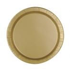 Papperstallrikar 17,1cm 8p Gold 15kr