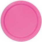Papperstallrikar 22,9 cm 8p Hot pink 18kr
