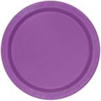 Papperstallrikar 22,9 cm 8p Pretty purple 18kr