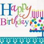 Servetter Happy birthday 2-lags 16p 18kr