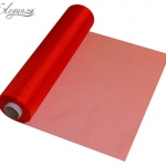 Organzatyg rulle 29cmx25m Röd 115kr