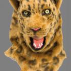 BESTÄLLNINGSVARA Deluxe (rörlig käke) animal mask leopard 929kr