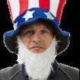 BESTÄLLNINGSVARA Uncle Sam hat with beard 79kr