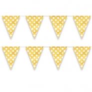 Flag banner av plast dots yellow 3,65m 18kr