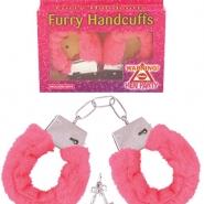 Furry handcuffs rosa 31kr