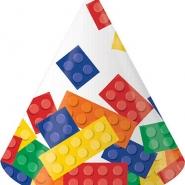 Partyhattar blocks 8stkr