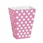 Popcornbox dots rosa 8st 22kr