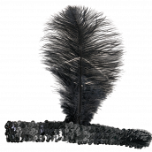 20-tals hårband med fjäder svart 35kr