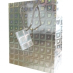 Medium Hologr. silver gift bag 16kr