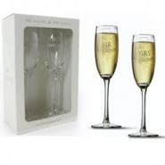 Champagneglas mr & mrs awesome 186kr