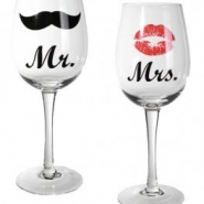 Vinglas mr & mrs 143kr