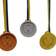 Medaljer brons, silver, guld (6st) 2 av varje 39kr