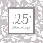 Servetter 25th anniversary silver 2-lags 16p 34kr