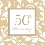 Servetter 50th anniversary gold 2-lags 16p 34kr