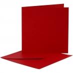 Kortstl. 12,5x12,5 cm, kuvertstl. 13,5x13,5 cm, röd, 10set 55kr