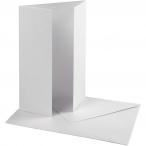 Pärlemorskort med kuvert, kortstl. 10,5x15 cm, kuvertstl. 11,5x16,5 cm, vit, 10set, 230 g 69kr