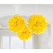 pompom x3 40cm yellow 95kr