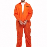 Costume adult prisoner overall with handcuffs 199kr