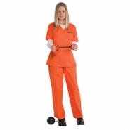 Ladies costume inmate (skjorta, byxor) 229kr