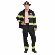 Men´s costume fireman trousers, jacket, helmet and braces size M or L 549kr