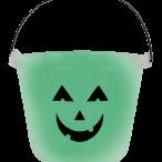 Glow in the dark bucket 18x22cm 45kr