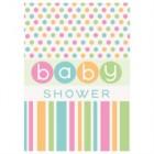 Babyshower inbjudan polka dot 8p18kr