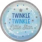 Papperstallrikar 22,2cm 8p twinkle little star blue 42kr
