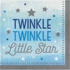Servetter 16p twinkle little star blue 39kr