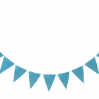 TRIANGLE FLAG BANNER BLUE 3.6 M 25kr