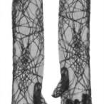Black spider web gloves 33kr
