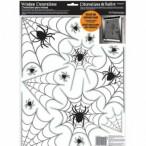 Fönsterdekor 30x40cm 14st spindlar & nät 20kr