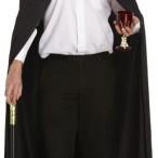 Long black cape adult 159kr