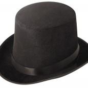Black Velour Top Hat 39kr