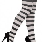 Black and white striped tights 55kr