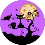 Tårtbild Halloweenkatt 59kr