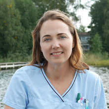 Angela Blomqvist, leg djursjukskötare