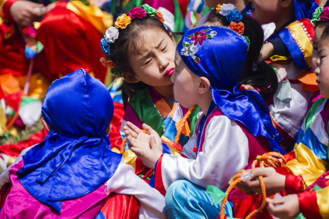 Barn i Nordkorea #sidebyside