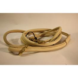 Läderkoppel Rundsytt - Beige - 1,5m