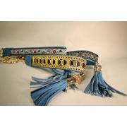 Skinnhalsband Blå - Dekorband med tofs