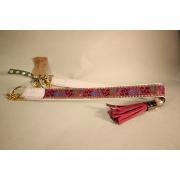 Skinnhalsband Ljusrosa - Dekorband med tofs