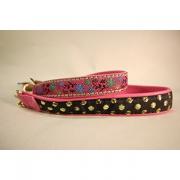 Skinnhalsband Rosa - Dekorband